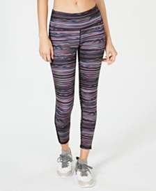 Ideology Space-Dyed Mesh-Trimmed Leggings, Created for Macy's