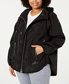 Calvin Klein Performance Plus Size Cross-Over Back Jacket