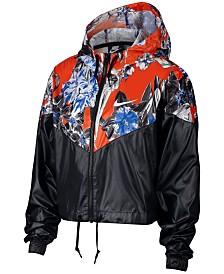 Nike Sportswear Womens Hyper Femme Printed Windrunner Cropped Jacket -  Jackets   Blazers - Women - Macy s ec1e25755