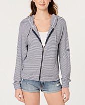 b40c4ccc7 Roxy Juniors' Cloudy Skies Striped Hoodie