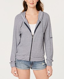 Roxy Juniors' Cloudy Skies Striped Hoodie