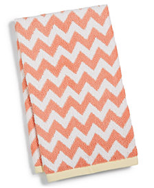 "Martha Stewart Collection Chevron Spa Cotton 16"" x 28"" Hand Towel, Created for Macy's"