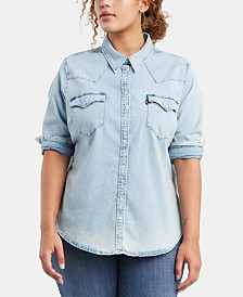 Levi's® Trendy Plus Size  Western Shirt
