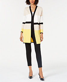 Alfani Colorblocked Cardigan, Created for Macy's