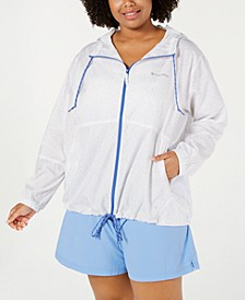Plus Size Flash It Forward Windbreaker