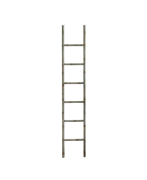 3R Studio Distressed Blue Decorative Metal Ladder