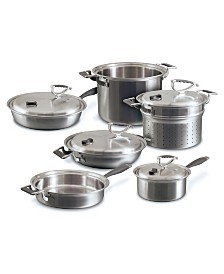 CookCraft 10pc Tri-Ply Stainless Steel Set