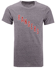 Majestic Men's New York Rangers Tri-Blend Team Logo T-Shirt