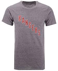 Majestic Men's New York Rangers Tri-Blend Team Logo T-Shirt