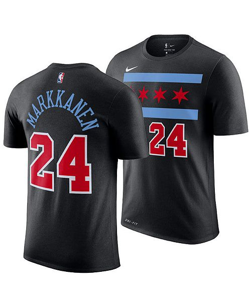 wholesale dealer 3fceb 7fdad Nike Lauri Markkanen Chicago Bulls City Edition T-Shirt, Big ...