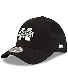 New Era Mississippi State Bulldogs Black White Neo 39THIRTY Cap