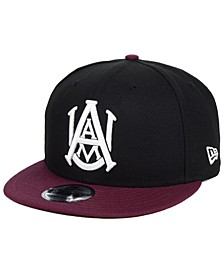 Alabama A&M Bulldogs Black Team Color 9FIFTY Snapback Cap