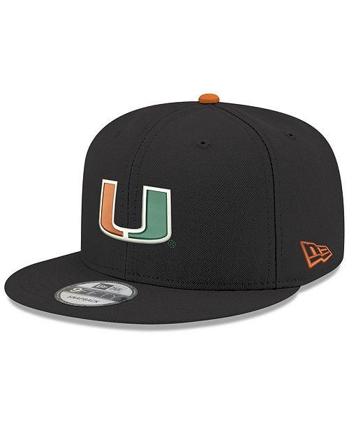 New Era Miami Hurricanes Core 9FIFTY Snapback Cap