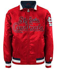 G-III Sports Men's St. Louis Cardinals Captain Starter Satin Jacket II