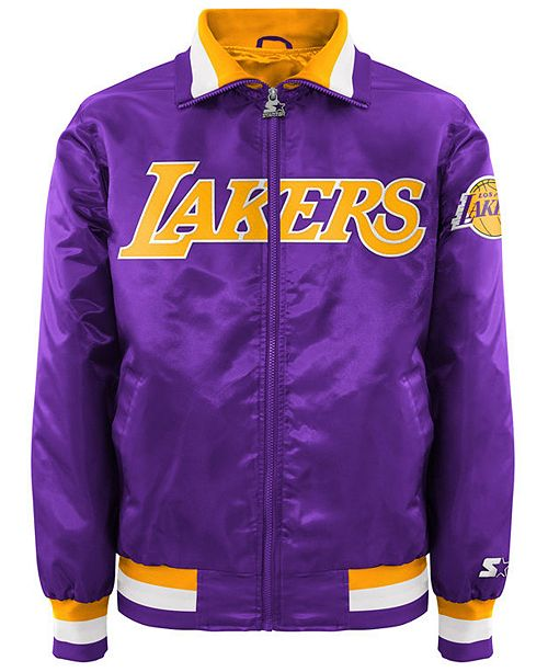 G-III Sports Men's Los Angeles Lakers Starter Captain II Satin Jacket