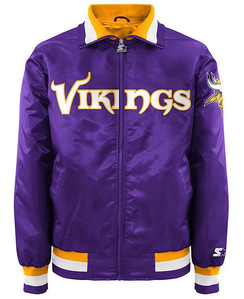 buy popular 14b18 90595 Men's Minnesota Vikings Starter Captain II Satin Jacket