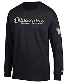 Champion Men's Washington Huskies Co-Branded Long Sleeve T-Shirt