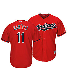 Majestic Men's Jose Ramirez Cleveland Indians Player Replica Cool Base Jersey