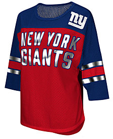 G-III Sports Women's New York Giants Team Sleeve Stripe T-Shirt