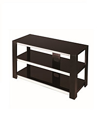"""42"""" TV Stand 2 Tier Tempered Glass"""