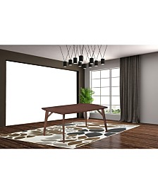 Arden Mid Century Rectangular Wooden Dining Table