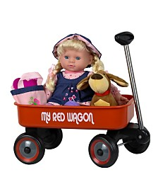 Baby Doll with Wagon Playset
