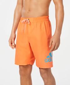 "Adidas Men's Logo Mania 9"" Swim Trunks, Created for Macy's"
