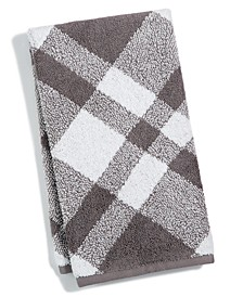 "Plaid Cotton 16"" x 30"" Hand Towel, Created for Macy's"