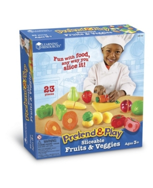 Learning Resources Pretend and Play Sliceable Fruits and Veggies