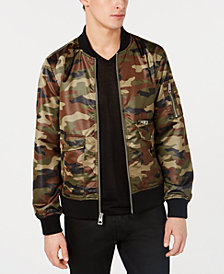 GUESS Men's Camo Bomber Jacket