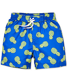 Little Me Pineapple Baby Boys Swim Trunks