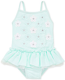 Little Me 3D Aqua Baby Girls Swimsuit