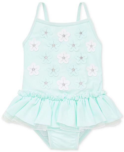 Little Me 3D Aqua Baby Girls Swimsuit
