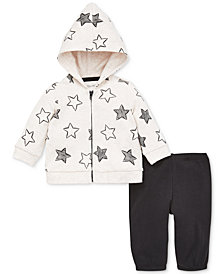 Little Me Baby Girls 2-Pc. Star-Print Cotton Hoodie & Pants Set
