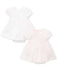 Baby Girls 2-Pack Cotton Popover Dresses