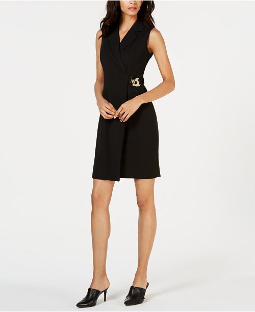 Calvin Klein Embellished Wrap Dress