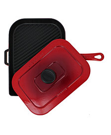 "Chasseur French Enameled Cast Iron 10"" Panini Press / Grill"