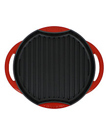 "Chasseur French Sun Enameled Cast Iron 10"" Grill Pan"