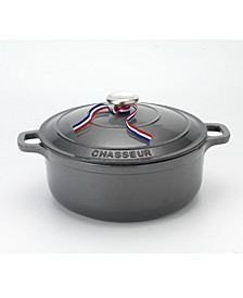 French Enameled Cast Iron 6.25 Qt. Round Dutch Oven