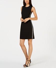 Calvin Klein Sleeveless Embellished Sheath Dress