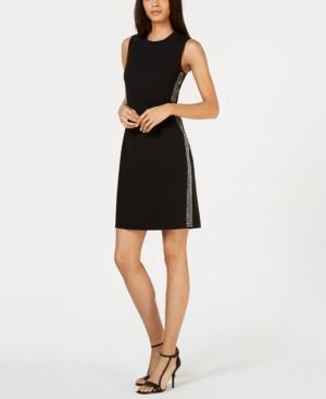 Calvin Klein Dresses SLEEVELESS EMBELLISHED SHEATH DRESS