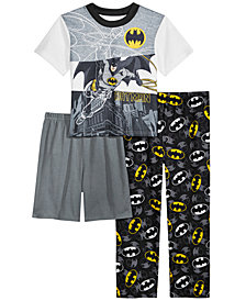 DC Comics Toddler Boys 3-Pc. Batman Pajama Set