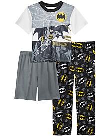 DC Comics Toddler Boys 3-Pc. Batman Pajama Set