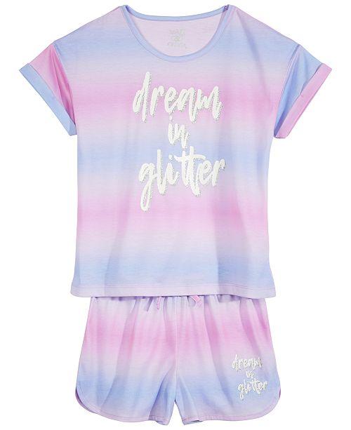 Max & Olivia Big Girls 2-Pc. Striped Pajama Seet