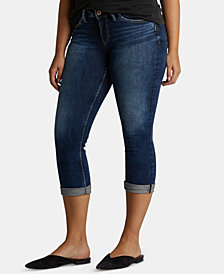 Silver Jeans Suki Rolled Capri Jeans