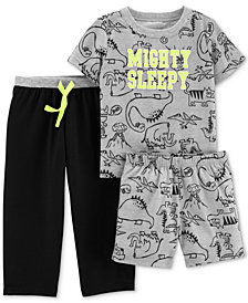 Carter's Toddler Boys 3-Pc. Mighty Sleepy Pajamas Set