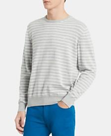 Calvin Klein Men's Logo Graphic Stripe Sweatshirt
