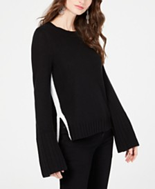 I.N.C. Rib Cuff Pullover Sweater, Created for Macy's