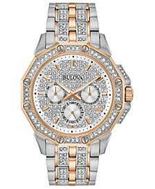 Men's Chronograph Phantom Two-Tone Stainless Steel & Crystal Accent Bracelet Watch 41.5mm
