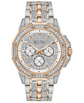 cc73b703eb61 Bulova Men s Chronograph Phantom Two-Tone Stainless Steel   Crystal Accent  Bracelet Watch ...